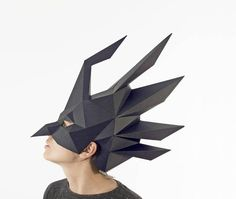 Crow paper mask Witch mask Raven costume Printable Halloween