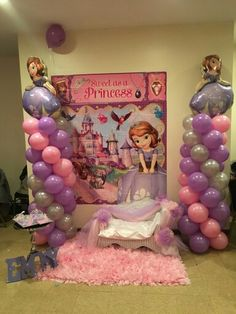 Sophia the first birthday party Sophia The First Birthday Party Ideas, Pink And Gold Birthday Party, First Birthday Party Decorations, First Birthday Themes, 6th Birthday Parties, First Birthdays, 4th Birthday, Birthday Ideas, Princess Sofia Birthday