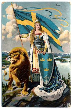 personification of countries Heroes And Generals, Sweden Flag, Swedish Army, Traditional Flash, Legends And Myths, Alternate History, Historical Maps, Cat Tattoo, Illustrations And Posters