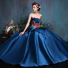 Luxury Royal Blue Long Evening Dresses 2016 Crystals floor length formal gown Prom Party Dress Evening vestidos de fiesta