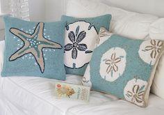 beach themed pillows <3