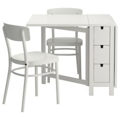 NORDEN/IDOLF Table and 2 chairs - white - IKEA