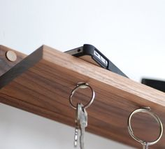 This Magnetic #KeyRing Holder and Shelf from Meriwether of Montana is #handcrafted, beautiful and devastatingly useful.