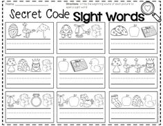 February printables and activities for Kindergarten. Like this one... students will identify the beginning sound of each picture to spell a sight word.