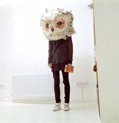 Uhu-Maske basteln ideen-Party Verkleidung-faschingsparty