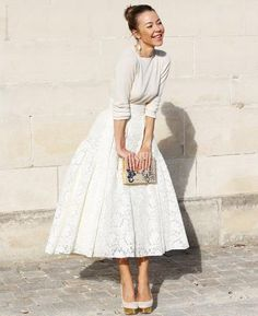 Casual chic white wedding dress; via one wed