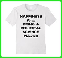 Mens HAPPINESS IS BEING A POLITICAL SCIENCE MAJOR COLLEGE SHIRT  3XL White - Math science and geek shirts (*Amazon Partner-Link)