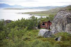 Remote cabin on the Norwegian island of Vannøya.