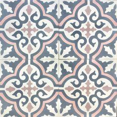 Cuba Grey Pink Encaustic Cement TileMOD 257 Colours: 01-25-31-47