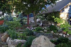 via Conrad Art Glass & Gardens. Slope beautifully tamed.