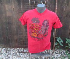70s vintage Red shirt Chi Chi club Avalon by funkomavintage, sold