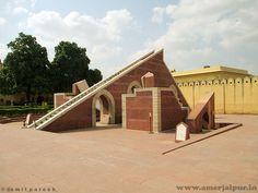 small smarat yantra (small sundial) at jantar mantar read more info at www.in Rajasthan India, Jaipur, Jantar Mantar, Virtual Travel, Tourist Places, World Heritage Sites, Tourism, Places To Visit, Construction