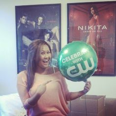 Jennifer celebrates the new CW season