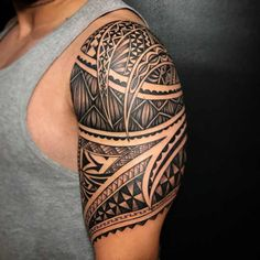Freehand polynesian piece by tum sleeve tattoos, tribal tattoos, bangkok, n