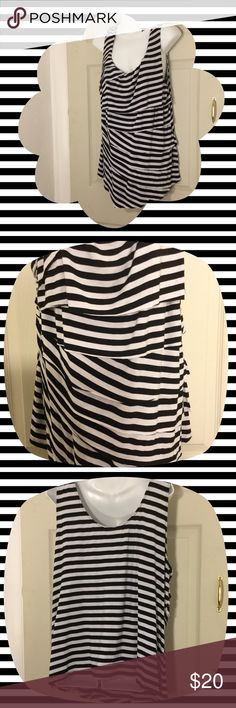 🌴NEW LISTING🌴 Torrid Layer Shirt Black and white. 96% rayon, 4% spandex. Size 2. (8/8) torrid Tops