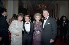 Michael J. Fox and Nancy McKeon At The Reagan White House
