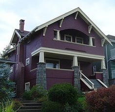 Do you meet the military service requirements to participate in the VA loan program? Check out our latest post to see who makes the cut: Craftsman Exterior, Craftsman Style, Craftsman Houses, Bungalow Exterior, Vancouver, Purple Home, Purple Sky, Arts And Crafts House, Second Empire