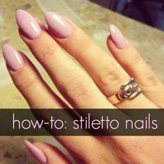 how to do stiletto nails