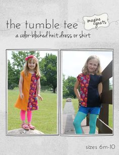 the tumble tee a colorblocked knit dress or shirt by imaginegnats