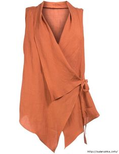 Laced ramie vest in Orange designed by Isolde Roth to find in Category Jackets a… - moda Boho Fashion, Fashion Dresses, Womens Fashion, Fashion Design, Fashion 2017, Fashion Boots, Fashion Trends, Sewing Blouses, Look Plus