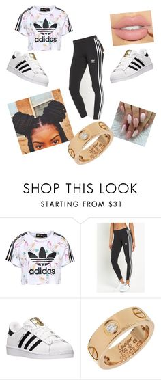 """yass honey"" by cece4life ❤ liked on Polyvore featuring adidas Originals, adidas, Cartier, l4l and f4f"