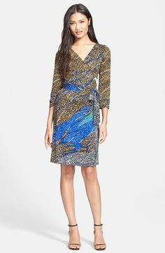 Diane von Furstenberg 'New Julian Two' Silk Jersey Wrap Dress available at #Nordstrom