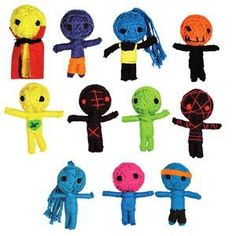 """A whole bag of String Voodoo Dolls (approx. 2-1/4"""" in size).  Ooh what fun I can have with these little jewels!  :)"""