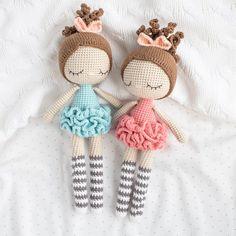 Crochet Dolls Free Patterns, Crochet Doll Pattern, Amigurumi Patterns, Doll Patterns, Free Crochet, Crochet Fairy, Tsumtsum, Ballerina Doll, Amigurumi Doll