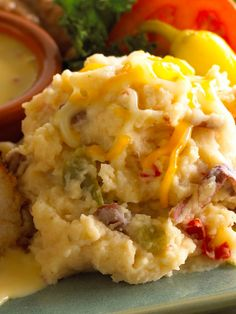 Tex Mex Mashed Potatoes with Bell Peppers, Sour Cream, and Cream Cheese...