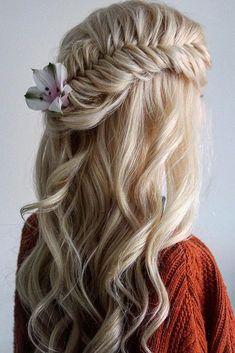 30 Timeless Bridal Hairstyles timeless bridal hairstyles elegant long blonde hair half up half down Best Wedding Hairstyles, Elegant Hairstyles, Creative Hairstyles, Loose Hairstyles, Bridal Hairstyles, Bridal Braids, Long Hair Tips, Hair Extensions Best, Sleek Ponytail