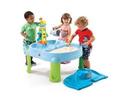Kids Water Toy Shovel Rake Tower Cup Slide Spinner Shark Tables Outdoor Play Bay #Step2