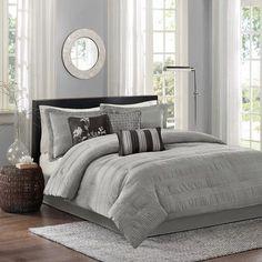 Latitude Run Rochelle Comforter Set Color: Grey, Size: California King