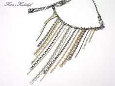 Fringed Silver Necklace - product image of SCHJ   #silvernecklace #necklace #silverjewellery #jewelry #jewellery #jewellerystore #jewelleryboutique #handmadejewellery #uniquejewellery #gifts #silverchamberjewellery
