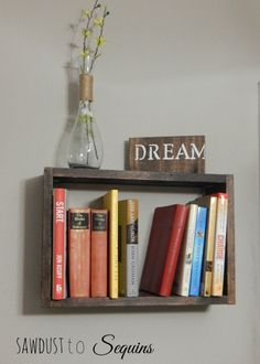 DIY Hanging Book Shelf