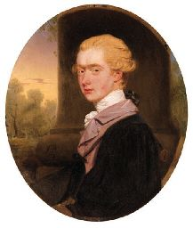 JOHN DOWNMAN (1750-1824)  Portrait of George John Spencer, Viscount Althorp  signed and dated 'J. Downman/Pinx/1777'