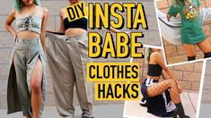 DIY MENS CLOTHES TO INSTAGRAM BADDIE CLOTHING HACKS!   Nava Rose - YouTube