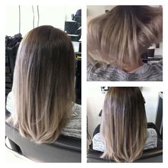 They are good at making Gray, Silver, Ash blonde kind of color! Beautiful. #hair #color #balayage