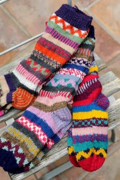 Recycled Wool Socks – I want a pair of these! They look awesome! Recycled Wool Socks – I want a pair of these! They look awesome! Crochet Socks, Knitting Socks, Hand Knitting, Knit Crochet, Fair Isle Knitting, Cute Socks, My Socks, Wool Socks, Sock Shoes