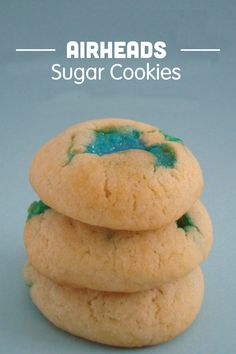 The classic sugar cookie recipe with a delicious and sweet twist! This fabulous dessert is made with Airheads candy for a colorful splash and tasty sweetness that is sure to be a hit with your kids!