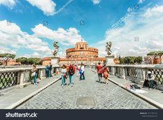 May View of Castel Sant Angelo from the Ponte Sant Angelo Pictures For Sale, Rome Italy, Street View, Rome