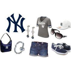 Cute Summer Yankee Outfit:)