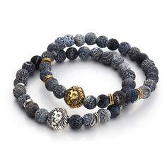 Woman Territory - 2017 Tiger Eye Lion Head Bracelet Buddha beads Bracelets