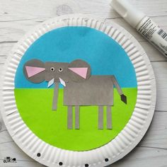 Learn about wild animals and shapes with this fun zoo animal elephant craft for kids. Work on fine motor skills while having fun. Zoo Crafts, Fun Arts And Crafts, Crafts For Kids, Elephant Zoo, Elephant Crafts, Elephants, Wildlife Day, Zoo Animals, Creative Kids
