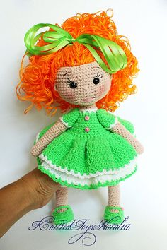 Crochet doll clothes Crochet toy Doll rag dress hand Home