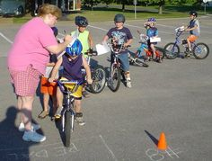 How to Run a Bike Rodeo. Stop on a dime. Newspaper boy.