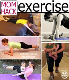 Ways to exercise from real moms - without equipment, at home.  I *need* this!