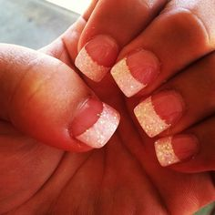 how i want my nails for my wedding.... GLITTER!!