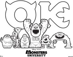 Monster University Colouring Sheet- A unique movie night theming idea from Southern Outdoor Cinema