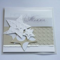 Glückwunschkarte zur Geburt/Taufe mit passendem transparenten Briefkuvert (auf Wunsch auch mit weißem Kuvert!)