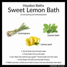 Pin by Sandra Sanchez on Magickal Baths . Hoodoo Spells, Magick Spells, Witchcraft, Voodoo Hoodoo, Herbal Magic, Witch Spell, Sea Witch, Book Of Shadows, The Conjuring